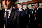 Silvio Berlusconi leaves the convetion of the Young Italy, the yuoth movement of Forza Italia party. Rome, 23 November 2013. Christian Mantuano / OneShot