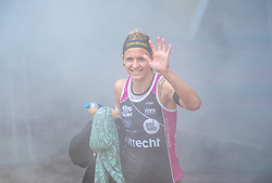 Laura Ludwig GER in action during the first day of the beach volleyball event King of the Court at Jaarbeursplein on September 9, 2020 in Utrecht.