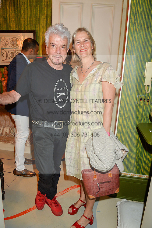 NICKY HASLAM and PHILLIPA WALKER at a party to celebrate the publication of 'A Girl From Oz' by Lyndall Hobbs held at Flat 1, 165 Cromwell Road, London on 12th May 2016.