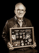 Bob Mitchell, Jr. was a B-17 ball-turret gunner in the 544 Bomb Squadron, 384th Bomb Group.  Originally from Alabama, he completed 38 missions, and later earned a masters degree from Vanderbilt University.   <br />