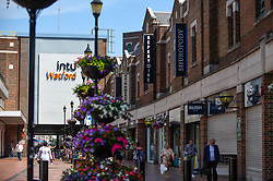 © Licensed to London News Pictures. 26/06/2020. WATFORD, UK.  A general view of the exterior of Intu Watford shopping centre.  Intu Properties, Britain's largest shopping centre owner with 20 sites in the UK and Spain, including Intu Watford in north west London, is on the verge of calling in administrators as the company struggles to agree restructuring plans with lenders over its GBP4.5 billion debts.  Rental income from tenants during the coronavirus lockdown has dwindled but the company had been struggling even before the pandemic arose.  Photo credit: Stephen Chung/LNP