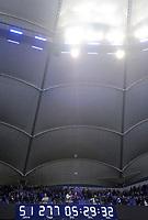 Fotball<br /> Tyskland<br /> 28.05.2015<br /> Foto: Witters/Digitalsport<br /> NORWAY ONLY<br /> <br /> Bundesliga-Uhr in der Imtech Arena nach Spielende<br /> Fussball Bundesliga, Relegation Hinspiel, Hamburger SV - Karlsruher SC 1:1