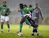 Fotball<br /> Frankrike 2004/05<br /> Ligacup<br /> Le Havre v Saint Etienne<br /> 21. desember 2004<br /> Foto: Digitalsport<br /> NORWAY ONLY<br /> FREDERIC MENDY (ST-E) / LASSANA DIARRA (HAV)
