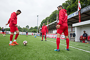 Northern Cyprus warming up. Northern Cyprus 3 v Padania 2 during the Conifa Paddy Power World Football Cup semi finals on the 7th June 2018 at Carshalton Athletic Football Club in the United Kingdom. The CONIFA World Football Cup is an international football tournament organised by CONIFA, an umbrella association for states, minorities, stateless peoples and regions unaffiliated with FIFA.