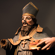 A guilded wooden statue of Saint Liborius of Mans dating to the first half of the 18th century. The Museu de São Roque is a museum attached to the the Igreja de Sao Roque to display various historical religious artefacts from the church. The 16th century Igreja de São Roque was one of the earliest Jesuit churches in Christendom and features a series of ornately decorated Baroque chapels.