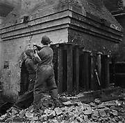 Chimney Demolishing in the Minories, London, England, 1935