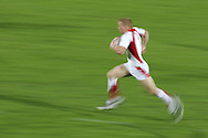 Action from the 2008-2009 opening event in the IRB World sevens series, the Emirates Airline Dubai Sevens 2008 tournament at the new Sevens Stadium in Dubai on 28th/29th November 2008. England