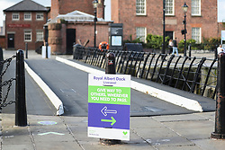© Licensed to London News Pictures. 01/10/2020. Liverpool, UK.  Covid safety warning signs in Liverpool today, where stricter lockdown rules have been announced. Photo credit: Kerry Elsworth/LNP