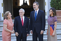 October 9, 2018 - Madrid, Spain - King Felipe VI of Spain, Queen Letizia of Spain, President of Chile Sebastian Pinera and his wife Cecilia Morel attend an official lunch at Palacio de la Zarzuela. (Credit Image: © Jack Abuin/ZUMA Wire)