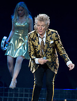 Rod Stewart, performs live at the 02 Arena.