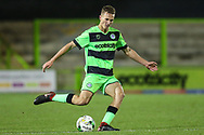 Forest Green Rovers Rendijs Kalnins(6) plays the ball forward during the FA Youth Cup match between U18 Forest Green Rovers and U18 Cheltenham Town at the New Lawn, Forest Green, United Kingdom on 29 October 2018.