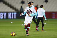 Jose Fonte of West Ham United in action during the pre match warm up. Premier league match, West Ham Utd v Manchester city at the London Stadium, Queen Elizabeth Olympic Park in London on Wednesday 1st February 2017.<br /> pic by John Patrick Fletcher, Andrew Orchard sports photography.