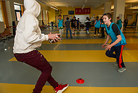 Laconia Middle School after school Nike Ambassador program.  Karen Bobotas for the Laconia Daily Sun