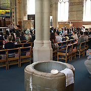 London,England,UK : 15th May 2016 : Christening for Scarlett and Laurence at St Barnabas' Clapham Common Northside London. Photo by See Li