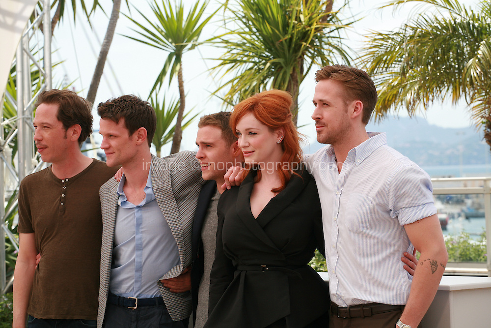 Reda Kateb, Matt Smith, Iain De Caestecker, Christina Hendricks and Ryan Gosling at the photo call for the film Lost River at the 67th Cannes Film Festival, Tuesday 20th May 2014, Cannes, France.