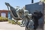 The Top Man Bronze Sculpture in Front of The Ocean Institute