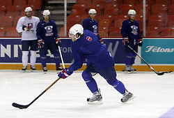 Anze Kopitar at morning practice of Slovenian national team before match against Canada at Hockey IIHF WC 2008 in Halifax,  on May 02, 2008 in Metro Center, Halifax, Canada.  (Photo by Vid Ponikvar / Sportal Images)