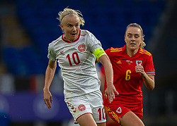 CARDIFF, WALES - Tuesday, April 13, 2021: Denmark's captain Pernille Harder during a Women's International Friendly match between Wales and Denmark at the Cardiff City Stadium. (Pic by David Rawcliffe/Propaganda)