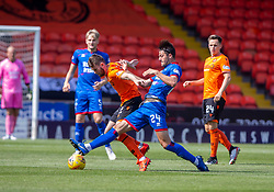 Dundee United's Sam Stanton and Inverness Caledonian Thistle's Charlie Trafford. half time : Dundee United 2 v 1 Inverness Caledonian Thistle, first Scottish Championship game of season 2019-2020, played 3/8/2019 at Tannadice Park, Dundee.