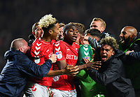 Football - 2018 / 2019 EFL Sky Bet League One - Play-Off Semi-Final, Second Leg: Charlton Athletic (2) vs. Doncaster Rovers (1)<br /> <br /> Charlton Athletic players congratulate Dillon Phillips after they win on penalties, at The Valley.<br /> <br /> COLORSPORT/ASHLEY WESTERN