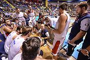 DESCRIZIONE : Supercoppa 2015 Semifinale Dinamo Banco di Sardegna Sassari - Grissin Bon Reggio Emilia<br /> GIOCATORE : Massimiliano Menetti<br /> CATEGORIA : Allenatore Coach Time Out<br /> SQUADRA : Grissin Bon Reggio Emilia<br /> EVENTO : Supercoppa 2015<br /> GARA : Dinamo Banco di Sardegna Sassari - Grissin Bon Reggio Emilia<br /> DATA : 26/09/2015<br /> SPORT : Pallacanestro <br /> AUTORE : Agenzia Ciamillo-Castoria/L.Canu