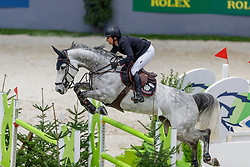 KRAUT Laura (USA), Jakarta<br /> Genf - CHI Geneve Rolex Grand Slam 2019<br /> Prix des Communes Genevoises<br /> 2-Phasen-Springen<br /> International Jumping Competition 1m50<br /> Two Phases: A + A, Both Phases Against the Clock<br /> 13. Dezember 2019<br /> © www.sportfotos-lafrentz.de/Stefan Lafrentz