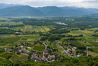 This is the view of the small French village of St-Pierre-d'Albigny as seen from the Miolans Castle.
