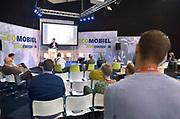 Nederland, Den Bosch, 10-10-2018In de Brabanthallen vindt de beurs voor energie en ecomobiliteit plaats. Het is een vakbeurs voor bedrijven die zich bezighouden met de energietransitie zoals energie en verwarming van huizen, en het rijden op alternatieve energiebronne, brandstof, zoals waterstof, elektriciteit en schonere diesel.Foto: Flip Franssen