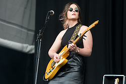 Stina Marie Claire Tweeddale of Honeyblood performing live on stage on day 3 of Leeds Festival a Bramham Park, UK. Picture date: Sunday 27 August, 2017. Photo credit: Katja Ogrin/ EMPICS Entertainment.
