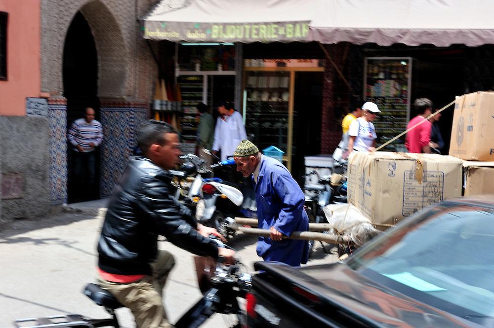 Busy street in Marrakesh