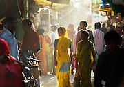 Women in sari's walking through market, Jodhpur, Rajasthan, India