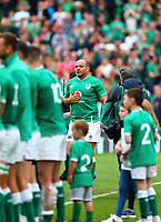 Rugby Union - 2019 pre-Rugby World Cup warm-up (Guinness Summer Series) - Ireland vs. Wales<br /> <br /> Rory Best (c) (Ireland) prepares to leave the pitch for the final time at The Aviva Stadium.<br /> <br /> COLORSPORT/KEN SUTTON