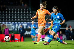 Kaja Korošec of Slovenia scores second goal for slovenia during football match between Slovenia and Nederland in qualifying Round of Woman's qualifying for EURO 2021, on October 5, 2019 in Mestni stadion Fazanerija, Murska Sobota, Slovenia. Photo by Blaž Weindorfer / Sportida