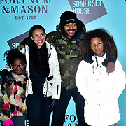 Kano arrivers Skate at Somerset House with Fortnum & Mason Launch party, London, Somerset House, 12 November 2019, London, UK.