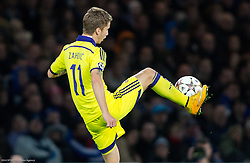 Luka Zahovic of Maribor during football match between Chelsea FC and NK Maribor, SLO in Group G of Group Stage of UEFA Champions League 2014/15, on October 21, 2014 in Stamford Bridge Stadium, London, Great Britain. Photo by Vid Ponikvar / Sportida.com