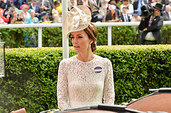 HRH The DUCHESS OF CAMBRIDGE at day two of the Royal Ascot 2016 Racing Festival at Ascot Racecourse, Berkshire on 15th June 2016.