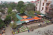 Village market near the International Airport outside Hanoi, Vietnam