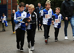 Young Bristol Rovers fans arrive at the ground