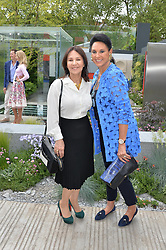 Left to right, ARLENE PHILLIPS and GAIL RONSON at the 2014 RHS Chelsea Flower Show held at the Royal Hospital Chelsea, London on 19th May 2014.