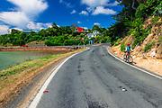 Cycling the Otago Peninsula, Dunedin, Otago, South Island, New Zealand