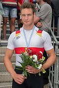 Hamburg. GERMANY. Men's Single Sculls Gold medalist. GER JM1X. Tim Ole NASKE.   Sunday A Finals. at the 2014 FISA Junior World rowing. Championships.  15:32:36  Sunday  10/08/2014  [Mandatory Credit; Peter Spurrier/Intersport-images]