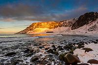 Unstad Beach, Lofoten Islands, Arctic, Northern Norway.