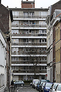 Nov. 16, 2015 - Brussels, BELGIUM - <br /> BRUSSELS, BELGIUM:<br /> <br /> Search for Paris Terror Suspect in Brussels<br /> <br /> Illustration shows apartments in Sint-Jans-Molenbeek / Molenbeek-Saint-Jean, Brussels on Monday 16 November 2015. During the weekend searches were carried out and multiple people were arrested in relation to Friday's terrorist attacks in Paris. Several terrorist attacks in Paris, France, have left at least 129 dead and 350 injured. Most people were killed during a concert in venue Bataclan, the other targets were a restaurant and a soccer game. The attacks have been claimed by Islamic State.<br /> ©Exclusivepix Media