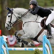 NORTH SALEM, NEW YORK - May 15: Sydney Shulman, USA, riding Toscane De L'Isle, in action during The $50,000 Old Salem Farm Grand Prix presented by The Kincade Group at the Old Salem Farm Spring Horse Show on May 15, 2016 in North Salem. (Photo by Tim Clayton/Corbis via Getty Images)