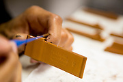 DETROIT, MI - OCTOBER, 30: Wendy Blackwell, 35, of Detroit, MI, works in Paint Finishing at the Shinola factory in Detroit, Michigan, Thursday, October 30, 2014. (Photo by Jeffrey Sauger)