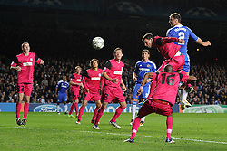 19.10.2011, Stamford Bridge Stadion, London, ENG, UEFA CL, Gruppe E, Chelsea FC (ENG) vs Racing Genk (BEL), im Bild Chelsea's Branislav Ivanovic scores his side's fourth goal // during UEFA Champions League group E match between Chelsea FC (ENG) and Racing Genk (BEL) at Stamford Bridge Stadium, London, United Kingdom on 19/10/2011. EXPA Pictures © 2011, PhotoCredit: EXPA/ Propaganda Photo/ Chris Brunskill +++++ ATTENTION - OUT OF ENGLAND/GBR+++++