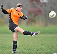 Cuyahoga Heights at Wellington girls varsity soccer on October 22, 2012. Images © David Richard and may not be copied, posted, published or printed without permission.