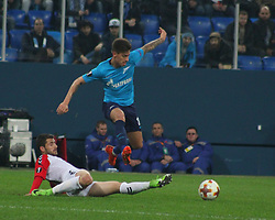 November 23, 2017 - Saint-Petersburg, Russia - Of The Russian Federation. Saint-Petersburg. Arena Saint-Petersburg. Zenit-arena. Football match of the UEFA Europa League, group stage: Zenit - FK Vardar. The player of football club Emiliano Rigoni; (Credit Image: © Russian Look via ZUMA Wire)