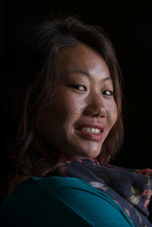 Apatani woman<br /> Apatani Tribe<br /> Ziro Valley, Lower Subansiri District, Arunachal Pradesh<br /> North East India