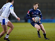 Sale Sharks full back Simon Hammersley during a Gallagher Premiership Round 9 Rugby Union match, Friday, Feb 12, 2021, in Leicester, United Kingdom. (Steve Flynn/Image of Sport)